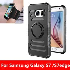 Thbelieve New Arrivel PC + TPU Dual Protective Cover For Samsung Galaxy S7 edge S7edge 360 Full Protective With Hand Arm Rope