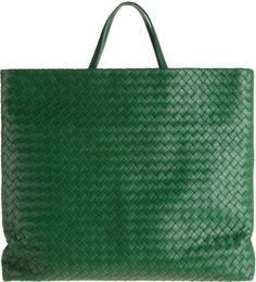 Bottega Veneta Green Intrecciato Messenger Green Bag 3119ac3651100
