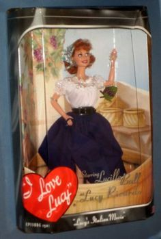 FOR SALE - Lucy's Italian Movie Doll & Jigsaw Puzzle I Love Lucy Ricardo Mattel 25527 Stompin Grapes MIB