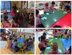 The early learners of Nursery inquired on ROTATION and how DAY AND NIGHT happens. A globe was used to represent the earth and a torch was used as a sun.  The  learners were told that the Earth goes around the sun and this was shown by spinning the globe. Then it was mentioned that the torch acts as the Sun and the Sun is always shining. It's just the Earth which rotates and due to which day and night occurs. They explored and found out that the part of the Earth which is away from the sun…