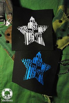 Barcodes Star Cyberpunk Patch by NEOSHIKI by neoshiki on Etsy #barcode #star #cyberpunk #patch #goth #gothic