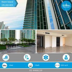 Luxurious (3) BR. + (4) bathrooms apartment for rent in Ocean Terrace (Al Reem Island) - Abu Dhabi, price: 195K  Call now! 02-4466110