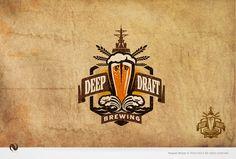 Deep Draft Brewing logo by Nagual #legit #golden #beers