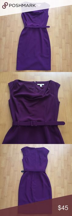 Banana Republic Dress Purple dress for a business semi formal look. Lefty is over the knee. Worn once and in excellent condition. Includes an inner liner. 100% polyester. Size 2. Banana Republic Dresses Midi