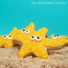 how to decorate easy starfish cookies, a summer or beach party idea