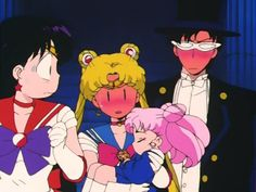 The moment they found out sailor mini moon was their daughter