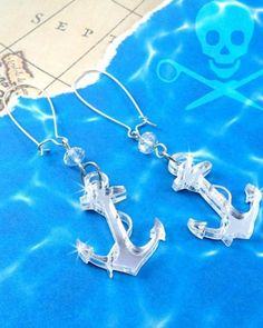 Silver Anchor Earrings absolutely love