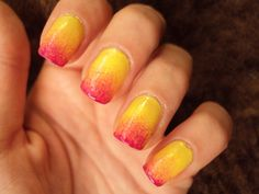 degrade Nails, Blog, Diy, Beauty, Finger Nails, Do It Yourself, Ongles, Bricolage, Nail