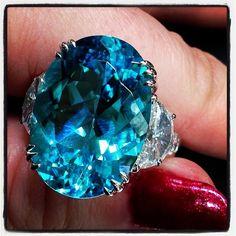 diamonds instabling paraiba tourmaline - like looking into the Caribbean