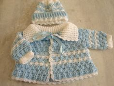 beside crochet: كروشية للأولاد.crochet for baby boys Baby Boy Knitting Patterns Free, Baby Cardigan Knitting Pattern, Knitted Baby Cardigan, Baby Patterns, Free Knitting, Crochet Baby Sweaters, Knitted Baby Clothes, Baby Boy Outfits, Baby Boys