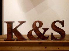 Partnerbuchstaben als Geschenk, 20 cm x 3,6 cm von Designsouris auf DaWanda.com