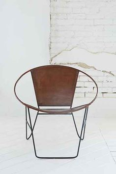 leather and wire chair