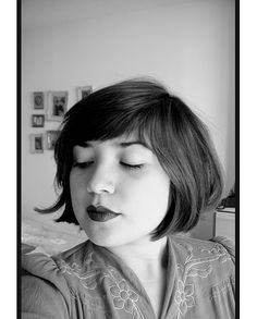 Then again, I'm digging this bob (which is a little shorter than where I am now) ... loving it with the lipstick!