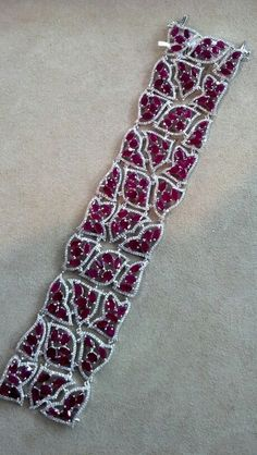 Ruby Wave and Diamond Bracelet. Set in 18kt Gold - come see at JA-NY Booth #1534!