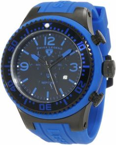 Swiss Legend Men's SL-11812P-BB-01BL Neptune Blue/Black Silicone Watch Swiss Legend. $139.99
