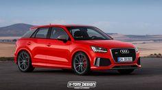 El hipotético Audi Q2 RS en un render de X-Tomi Design