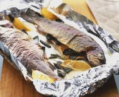 This recipe for rainbow trout calls for baking it whole in the oven and flavoring it with dill, lemon, and a dusting of paprika. Trout Recipes Oven, Whole Trout Recipes, Rainbow Trout Recipes, Fish Recipes, Seafood Recipes, Dinner Recipes, Seafood Dishes, Baked Trout, Amigurumi