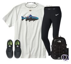 """""""Super bowl Sunday!Let's go Broncooos"""" by kate-elizabethh ❤ liked on Polyvore featuring Patagonia, NIKE, The North Face, Kendra Scott, Honora, women's clothing, women, female, woman and misses"""