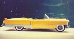 MELLOW YELLOW- The pinnacle of glamour in this 1954 Cadillac Eldorado convertible: