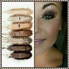 Addiction shadow palette 1 is full of warm, neutral tones, suitable for any eye color