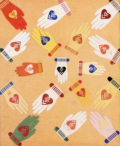 Heart and Hand Valentine from Connecticut, 1850-60, Museum of American Folk Art, New York.