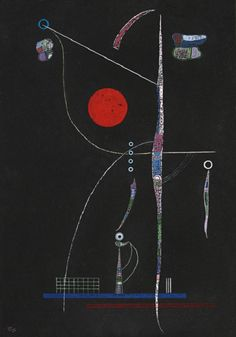 Wassily Kandinsky – Red Accent,1938