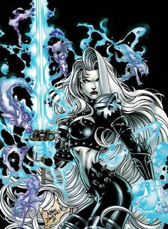 mike deodato jr art | Lady Death by Mike Deodato Jr.