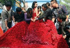 This is the bride..  Will there love last for ever?