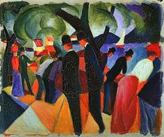 €150.00 l Painting by Agust Macke