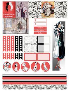101 Dalmatians planner stickers