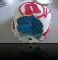 Sold at youth cake auction...so funny if you are a BYU fan!