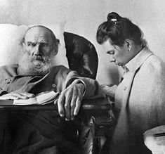 Leo Tolstoy with daughter Tatiana