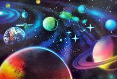 Vesmír :: VYTVARNA-VYCHOVA.CZ Wallpaper Space, Art For Kids, Pop Art, Northern Lights, Art Drawings, Avengers, Celestial, Disney, Black