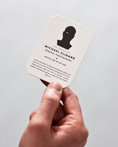 Michael Clinard's awesome business card.