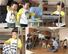 """The """"Superman Returns"""" twins, Seo Eon and Seo Joon, volunteered to hang out the laundry. In the most recent filming of KBS2's """"Superman Returns,"""" comedian Lee Hwi Jae's twins helped with chores by attempting to hang the laundry with their small hands. Seo Eon, who became interested in his mom hangin..."""