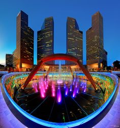 F o u n t a i n  O f  W e a l t h by Jerrick Asinas.  Is listed in Guinness as the largest fountain In the world.  Located in Singapore.  At night it is the center of laser performances.