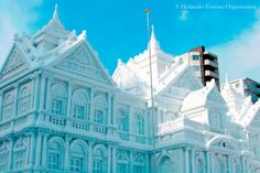 Sapporo Snow Festival in Japan Snow Castle, Ice Hotel, Ice Art, Snow Sculptures, Ice Castles, Go To Japan, Winter Festival, Win A Trip, Sapporo