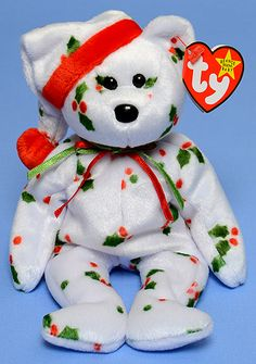 1998 Holiday Teddy - Bear - Ty Beanie Babies