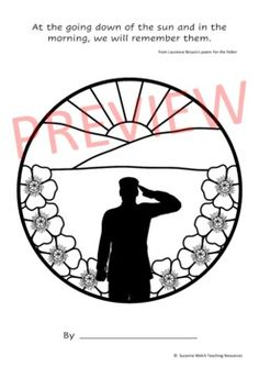 Anzac Day Silhouette Art Activity by Suzanne Welch Teaching Resources School Resources, Classroom Resources, Teaching Resources, Poppy Template, Armistice Day, Anzac Day, Remembrance Day, Silhouette Art, Writing Poetry