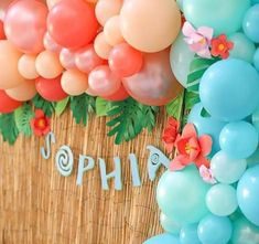 Moana Birthday Party Theme, First Birthday Balloons, Moana Themed Party, 2nd Birthday Parties, Moana Theme Cake, Diy Balloon, Balloon Garland, Moana Party Decorations, Birthday Party Decorations