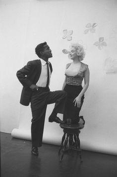 Sammy Davis Jr and Marilyn Monroe by Milton Greene.