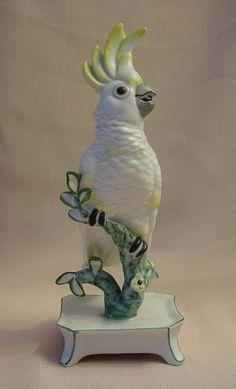 "RARE 7"" Nymphenburg Porcelain Cockatoo  ""Yellow"""