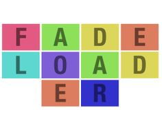 Fadeloader - The jQuery Fadeloader plugin lets you easily implement a preloader to your site or section, using a cascade fade in effect to show specific blocks of content