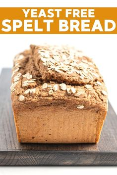 No yeast required to make this really quick and easy Spelt Bread. Mix it up in one bowl and have it in the oven baking in minutes! Spelt Bread Recipe No Yeast, Best Vegan Bread Recipe, Spelt Recipes, Quick Bread Recipes, Vegan Cake, Vegan Recipes, Alkaline Recipes, Vegan Ideas, Delicious Recipes