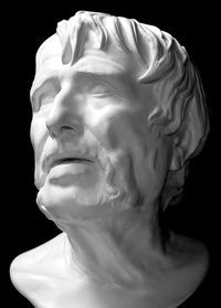 Plaster model created through the molding process.