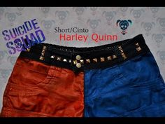 Suicide Squad Harley Quinn Shorts NO SEW DIY Tutorial - YouTube