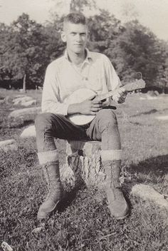 Every camp needs a banjo player.     UW Madison Digital Collections: EcoNatRes.wgnhs2143.bib