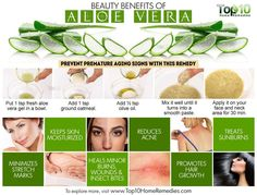 Aloe Vera for Skin and Hair: 8 Beauty Benefits and How to Use Aloe Vera For Skin, Aloe Vera Gel, Skincare For Combination Skin, Beauty Hacks For Teens, Top 10 Home Remedies, Dry Skin Remedies, Eczema Remedies, Best Beauty Tips, Beauty Tricks
