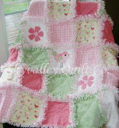 Baby Girl Rag Quilt ~ Gr...