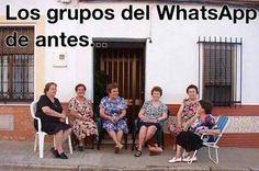 Los grupos del Whatsapp de antes...